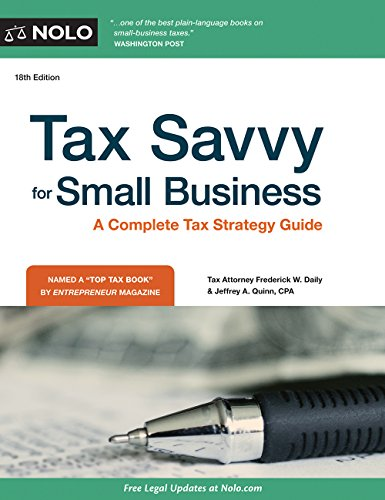 Tax Savvy For Small Business (P)
