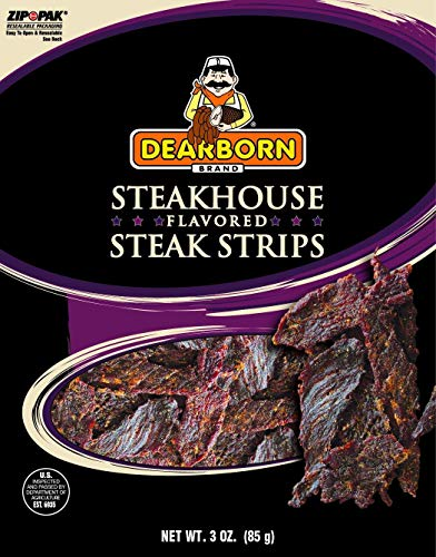 Dearborn Steakhouse Strips, 3 oz bag