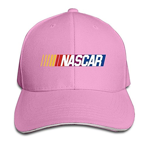 - NASCAR M Racing Logo Unisex Baseball Cap Peaked Hat Adjustable Premium (Pink)