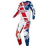 Fox Racing 180 Honda White Jersey/ Pant Combo - Size X-LARGE/ 36W