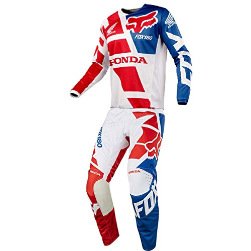 Fox Racing 180 Honda White Jersey/ Pant Combo - Size SMALL/ - Outlets Jersey Clothing New