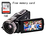 MAGENA Camcorder full HD 1080P 24MP 16X Digital Zoom Infrared night Video Camcorders with 270 Degree Rotation Screen night shoot Free 16G memory card