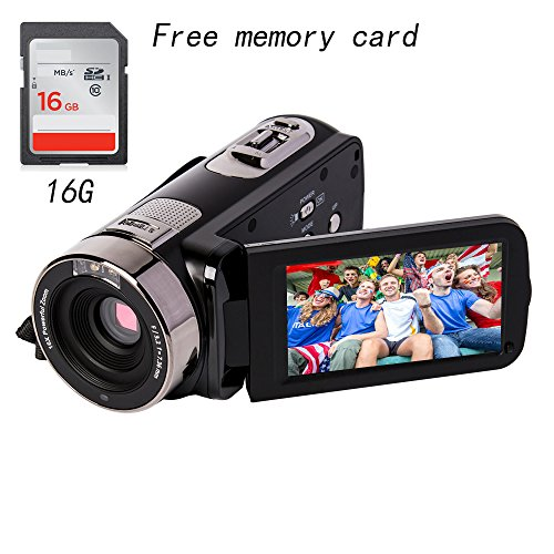 Camcorder gift for kids full HD 1080P 24MP 16X Digital Zoom