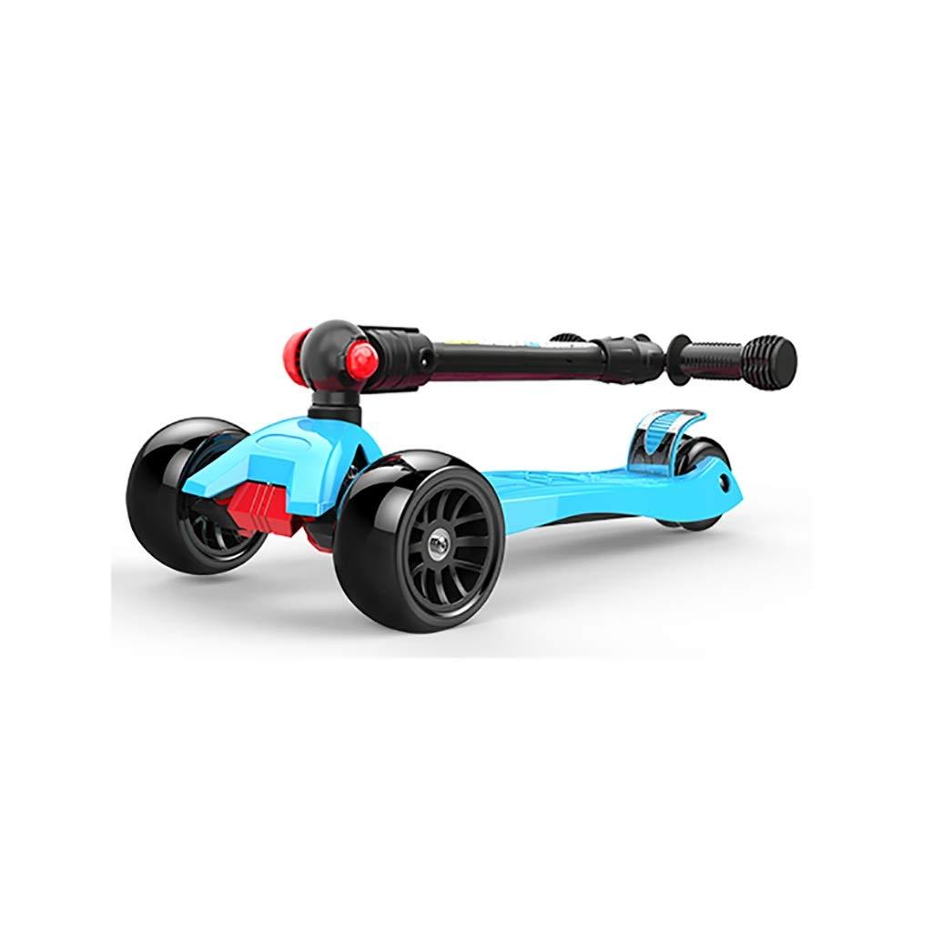 青いスクーターの折り畳み式の高さの調節可能で自由で滑らかな滑走 B07R4CHK97 B07R4CHK97, おみやげ菱屋:6617c15a --- guayson.mx