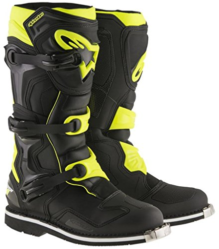 Alpinestars Tech 1 All Terrain Off Road Motocross Boots Black Hi-Viz Size 5