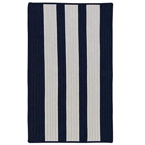 (Colonial Mills EV57R024X048S Everglades Vertical Stripe Braided Rug 2' x 4' Navy Pier)