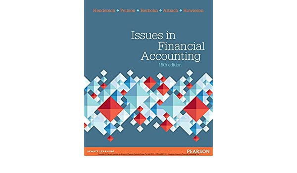 Issues In Financial Accounting EBook Scott Henderson Amazonau Kindle Store
