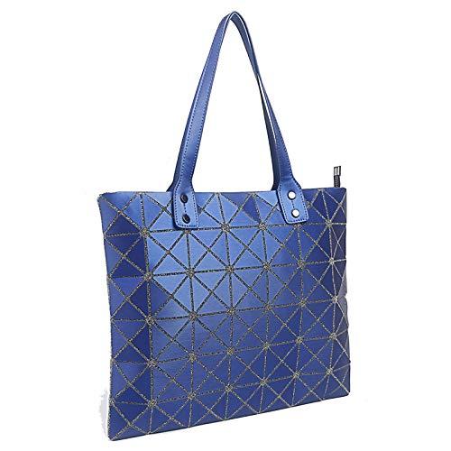 Donna Geometriche Borse Borse Cuciture Moda A Blue Tracolla Borse Diamanti dwfqp7fx
