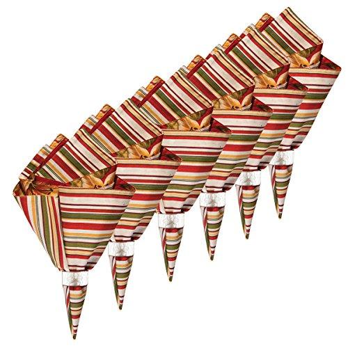 C&F Home Lily Garden Cotton Reversible Napkin 20x20 Set of 6 Napkin Set of 6 ()