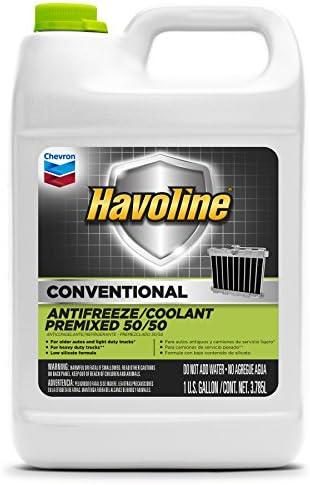 - 51X4liyF4fL - HAVOLINE Chevron Anticongelante Conventional Antifreeze/Coolant, Premixed 50/50, Color Blanco, 3.785 l (1G)