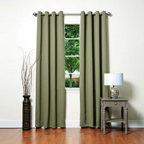 Curtains 90x90 eyelet green - StoreIadore