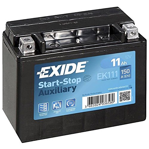 Exide Ek111 Agm Car Battery 11 Ah: