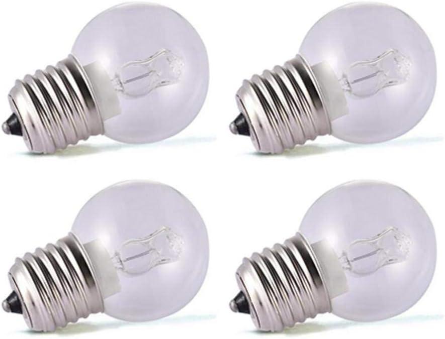 4 piezas Bombilla incandescente LED, base de tornillo pequeña E27, bombillas de luz de horno, luz de tungsteno, hasta 500 grados 220V- 240V 40W bombilla de luz, 2650K blanco cálido, no regulable