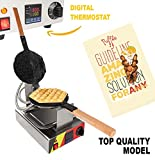 Waffle Maker ALD Kitchen for Professional Use Nonstick (Grill / Oven for Cooking Puff, Hong Kong Style, Egg, QQ, Muffin, Cake Eggettes and Belgian Bubble Waffles) (DIGITAL THERMOSTAT)