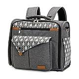 Lekebaby Convertible Diaper Bag Backpack for Mom Can Be Used as Tote Diaper Bag and Messenger Diaper Bag, Arrow Print