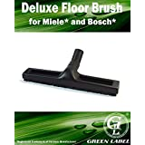 Deluxe Floor Brush for MIELE and BOSCH Canister Vacuum Cleaners. Genuine Green Label Product.