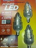 Lights of America Power LED Chandelier Bulb (2525ledse12-lf3) 3 Pack