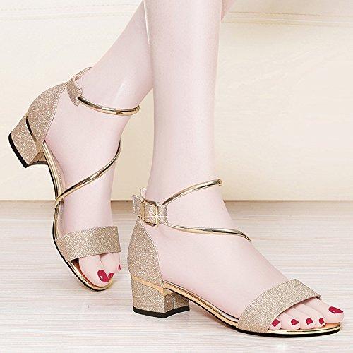 con Sandali sandali sandali RUGAI Golden UE e PpqnwHSxE5