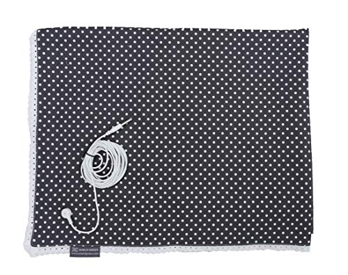 Therapy-Earthing Blanket-Modern Dot, Stainless Steel Yarn 25% EMF,RF shileiding Fabric+Earthing snap for grounding ()