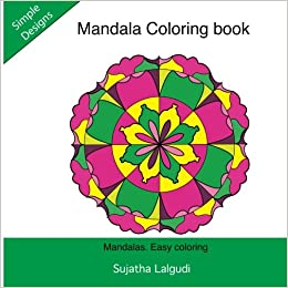 Easy Coloring Simple Mandala Book Adult BooksMandala Books For Adults Volume 2