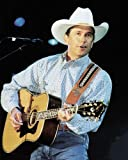 #2: George Strait Country Music Legend playing guitar 16x20 Poster