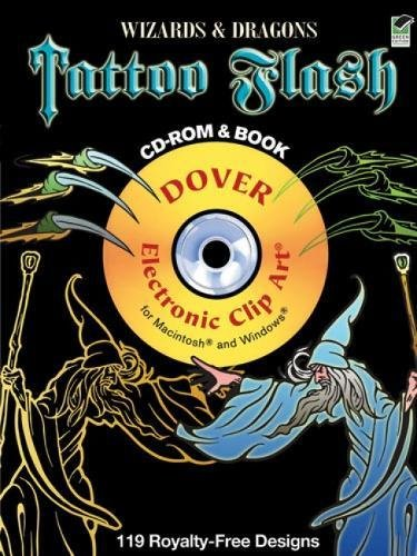 Wizards and Dragons Tattoo Flash CD-ROM and Book (Dover Electronic Clip (Dragon Tattoos Art)