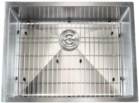 Ariel – 26 Inch Stainless Steel Undermount Single Bowl Kitchen Sink 15mm Radius Design with Accessories