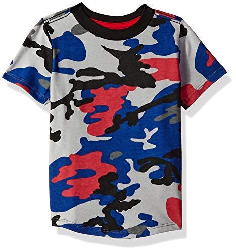 Crazy 8 Baby Boys Short Sleeve Basic Tee, Blue Urban camo, 12-18 mo