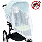Jolik(2 Pack) Mosquito Net for Stroller Carriers Car Seats Cradles, Universal Size, High-Density Stroller Mosquito Net