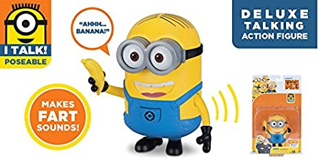 Dave with Banana Despicable Me 3 Deluxe Talking Farting Minion Action Figure