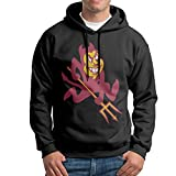 FUOALF Mens Pullover Arizona State University Sun Devils 02 Hooded Sweatshirt Black XXL