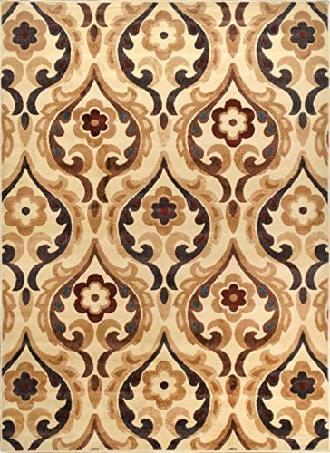 Elegant and Classic Design Catalina Area Rug by Home Dynamix, , Ivory Sumptuous Fabric, Soft, Comfy and Durable Fade and Stain Resistant, Easy to Clean and Care for