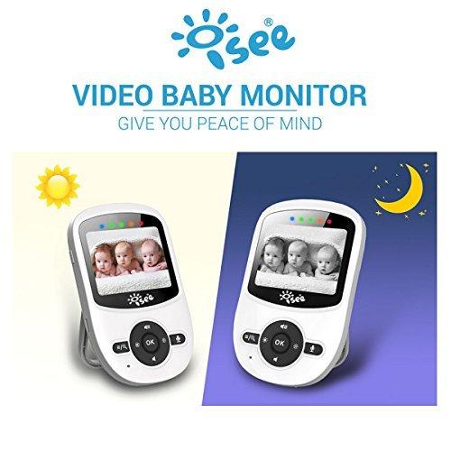 ISEE Video Baby Monitor, Monitors Infant Long Range Portable Digital Audio Night Alarm Safety