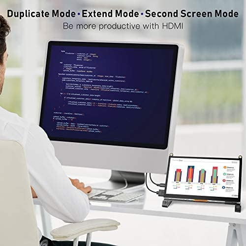 Touchscreen Monitor, EVICIV 7 Inch Portable USB Monitor Raspberry Pi Touch Screen IPS Display Computer Monitor 1024X600 16:9 Game Monitor for Pi 4/3 /2/ Zero/B Raspbian Ubuntu Xbox /PS4 Mac 51X4oKuutlL