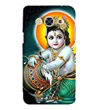 Fiobs Designer Back Case Cover for Samsung Galaxy J3 Pro :: Samsung Galaxy J3 (2017) (Bal Krishna Krushna Lord Hindu God )