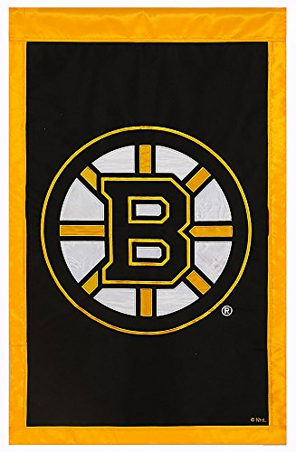 Team Sports America NHL Boston Bruins 28'' x 44'' Double-Sided Team Logo Applique Flag