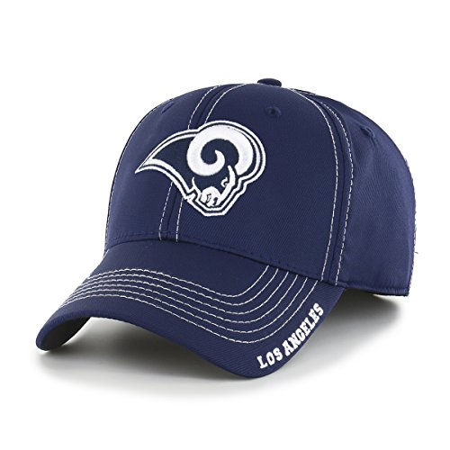 NFL Los Angeles Rams Start Line OTS Center Stretch Fit Hat, Light Navy, Large/X-Large from OTS