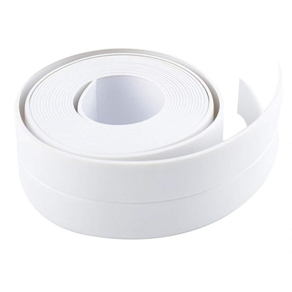 Caulk Strip Self Adhesive Tape for Kitchen Sink Toilet Bathroom Shower and Wall Seam Repair, Bathtub Caulking Sealing Tape Waterproof, Bath Tub Floor Sealer Trim, 1-1/2'' x 11' White by ZCINT