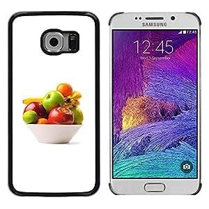 Paccase / SLIM PC / Aliminium Casa Carcasa Funda Case Cover - Bowl of fruit - Samsung Galaxy S6 EDGE SM-G925