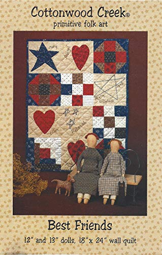Best Friends Doll and Wall Quilt Pattern #125 from Cottonwood Creek 12