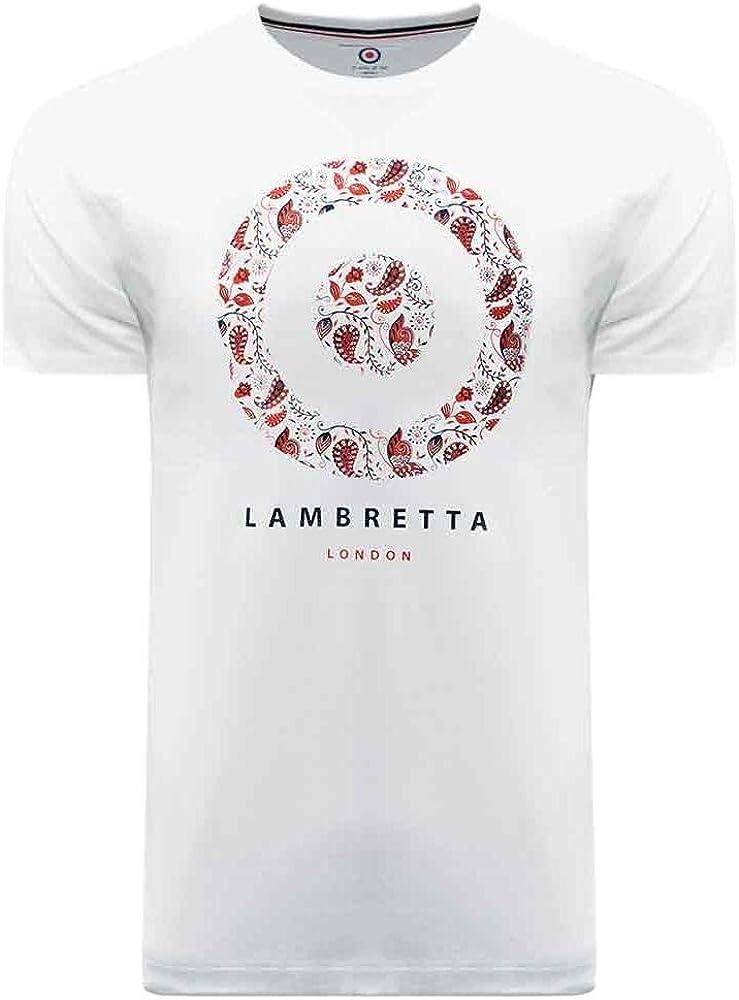 Lambretta - Camiseta de manga corta de algodón con diseño de cachemira: Amazon.es: Ropa y accesorios