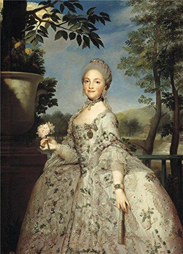 Oil Painting 'Mengs Anton Rafael Maria Luisa Of Parma Princess Of Asturias Ca. 1765' 30 x 42 inch / 76 x 106 cm , on High Definition HD canvas prints - Sunglasses Blade 80s