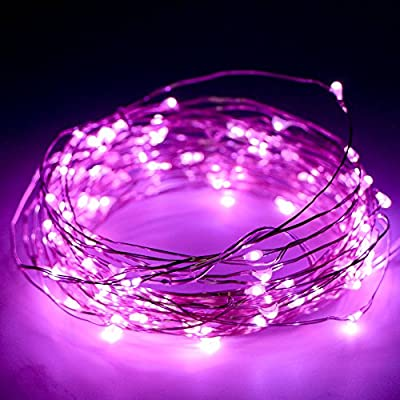 Kany LED String Lights Copper Wire Lights,100 LED 33 ft Battery Operated Waterproof Starry String Lights, Decorative Rope Lights For Seasonal Christmas Holiday, Wedding, Parties
