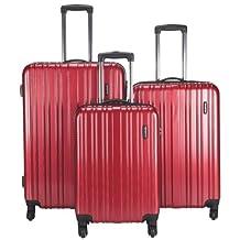 Samsonite - Celtic 3-Pieces Hard Side 4-Wheeled Expandable Luggage Set (Red)