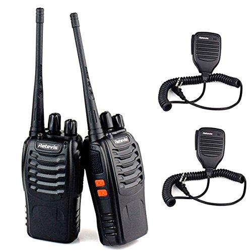 Retevis H-777 Funkgerät UHF mit Lautsprecher 1500mAh (2 Stücke, Schwarz)