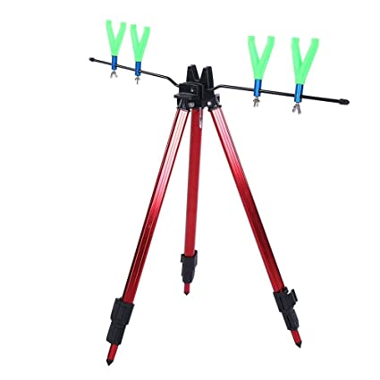 Portable Fishing Rod Stand Pole Bracket Rod Holder Support Stand Telescopic