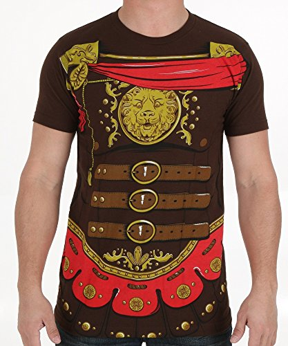 Mens Gladiator Costumes Tshirt (Gladiator Costume Tee Medium)