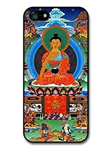 AMAF ? Accessories Buddha Siddhartha Gautama Praying Tibet Buddhism case for iPhone 6 plus 5.5
