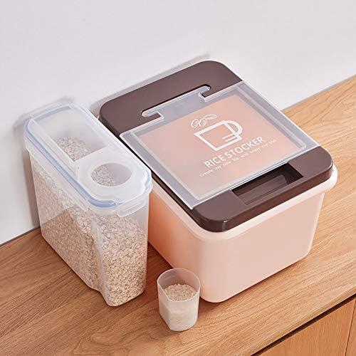 クラムシェル型穀類貯蔵容器、BPAフリー&フードグレードプラスチック、食品を乾燥して新鮮に保ち、キッチンのスペースを節約します。