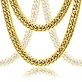 Premium Cuban Link Solid 18k Gold Thick Men's Chain Set (Bracelet & Necklace)